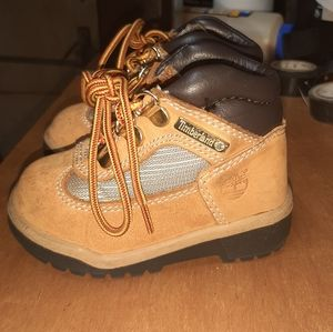 Toddler Timberland field boots.